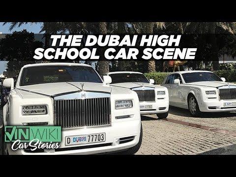 How insane is the high school car scene in Dubai