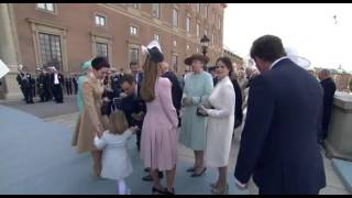 Crown Princess Mary and her goddaughter Princess Estelle 2016 エステル王女 検索動画 14