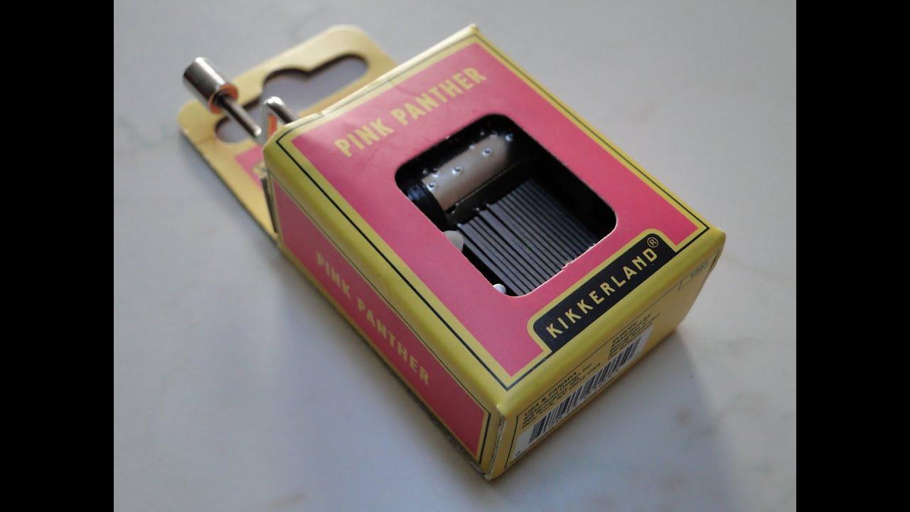 pink panther crank music box  kikkerland  youtube - pink panther crank music box  kikkerland