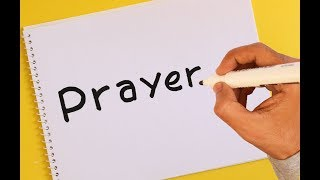 How to turn word PRAYER into a Cartoon ! Text To Picture Art for kids