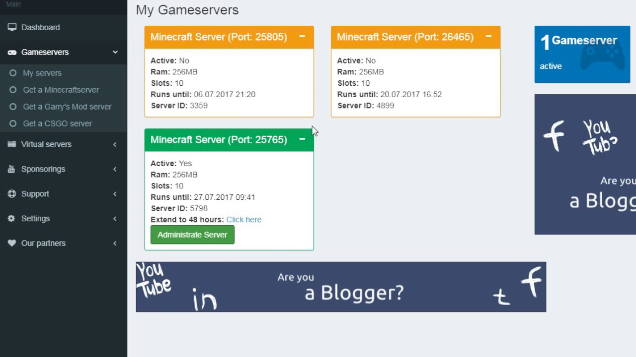 Бесплатные хостинги для серверов майнкрафт 1.7.10 хостинг для создания сервера с модами