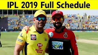 WATCH: Full Schedule For Of IPL 2019 | Sports Tak