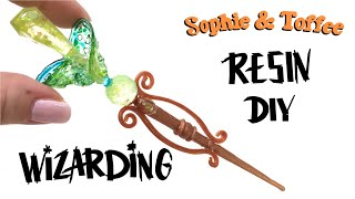 Magical Fairy Wand- Sophie and Toffee Elves Box- Premium- UV resin- DIY
