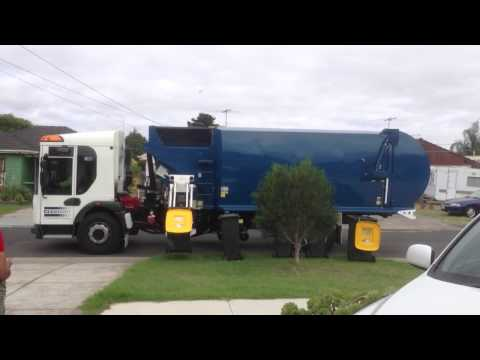 Waste collection truck in Australia