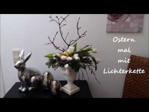 osterdeko ostern mit lichterkette b rbel s wohn deko ideen youtube. Black Bedroom Furniture Sets. Home Design Ideas