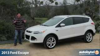 2013 Ford Escape EcoBoost Test Drive & Crossover SUV Video Review