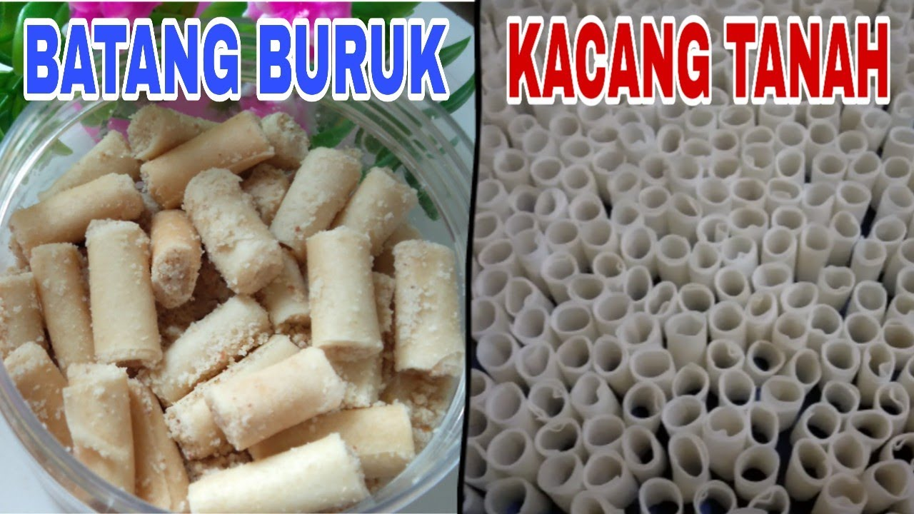 BATANG BURUK KACANG TANAH || KUE RAYA PALING MUDAH - YouTube