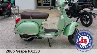 2005 vespa px150 used moped for sale