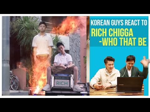 Korean guys react to Rich Chigga - Who that be