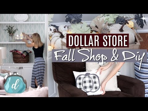 DOLLAR TREE & TARGET DOLLAR SPOT 🌿 Fall Farmhouse DIYs + decorate with me!