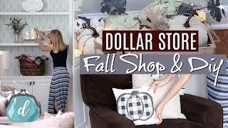 DOLLAR TREE & TARGET DOLLAR SPOT 🌿 Fall Farmhouse DIYs + decorate with me!
