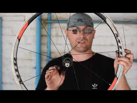 Разборка, сборка колеса, регулировка спиц. Ремонт заднего колеса спортивного велосипеда.  Часть 1