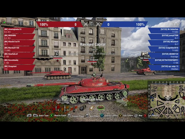 Wednesday Night Fights World of Tanks console DATE 8/27/18 Teams:BK vs EATUS