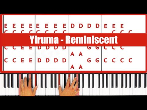 Reminiscent Yiruma Piano Tutorial - ORIGINAL