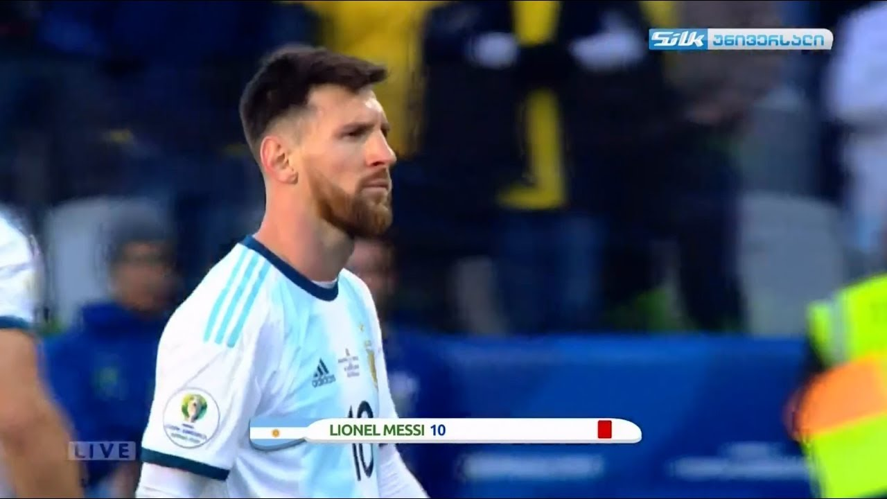 Lionel Messi Shocking Red Card Argentina Vs Chile 2 0 Youtube