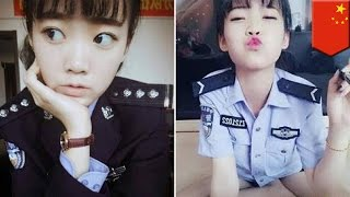 Selfies get Chinese cop fired - TomoNews