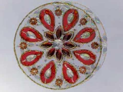 Innovative rangoli art on cd diwali decoration idea cd craft - Innovative Rangoli Design Quick Simple For Diwali Wit