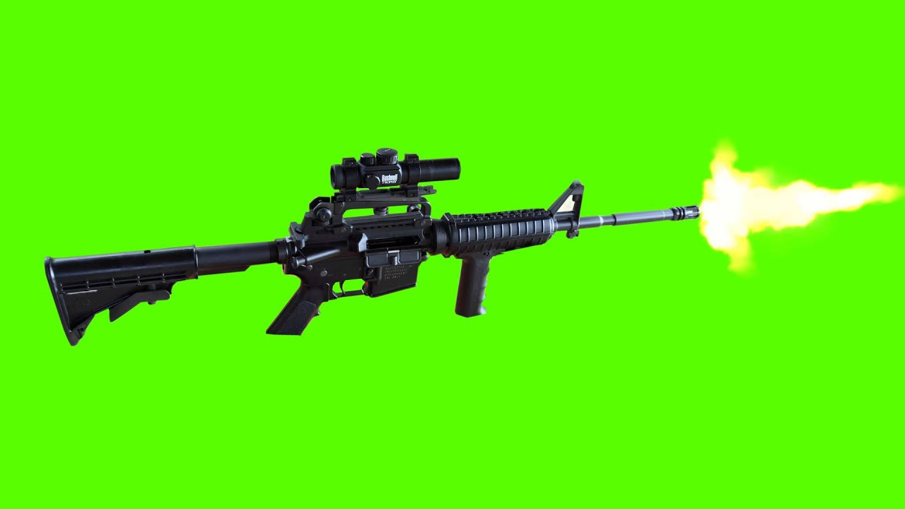 Minigun Bullet Automatic Gun Shoot An...