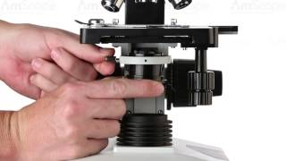 AmScope Darkfield Microscopy Tutorial - DK-DRY100, DK-OIL100 on T490 Compound Microscope