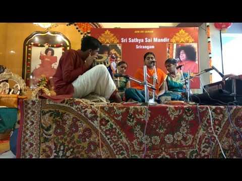 Bhajanamrutham-Hayavadhana Bhajana Mandali,SRNM'17  @ Sri Sathya Sai Mandir,Srirangam.Part 1.