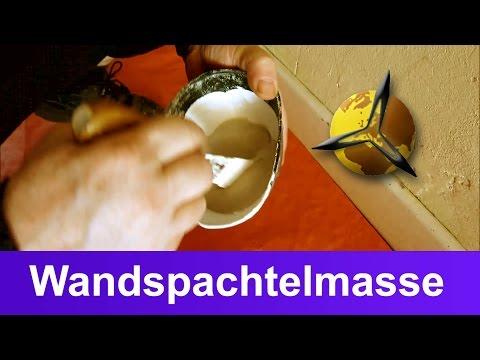 Wände spachteln: Spachtelmasse für Wände selber machen / herstellen