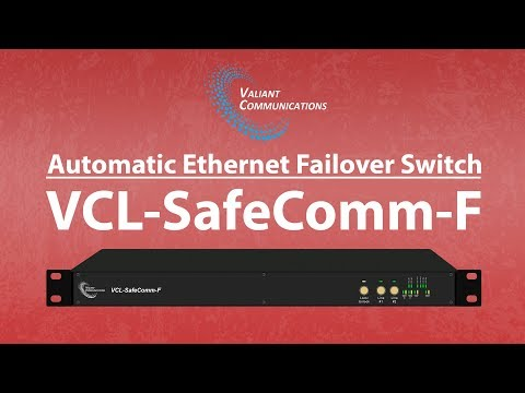 1+1 Automatic Ethernet Equipment Failover Switch