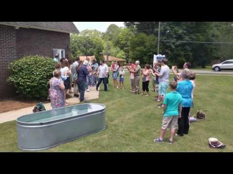 Baptism at First United Methodist Church 6-11-17