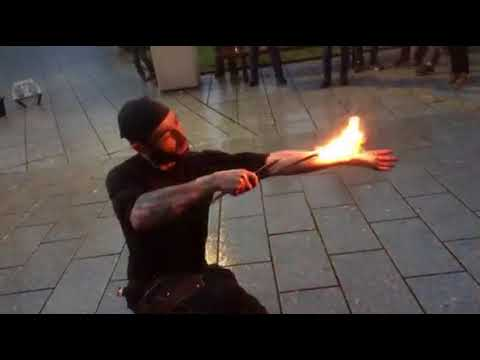 Fire show of Estonia,Tallinn,Niguliste