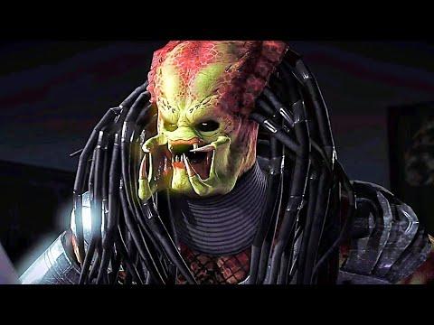 Mortal Kombat X All Fatalities On The Predator 1987 Movie (No Mask)