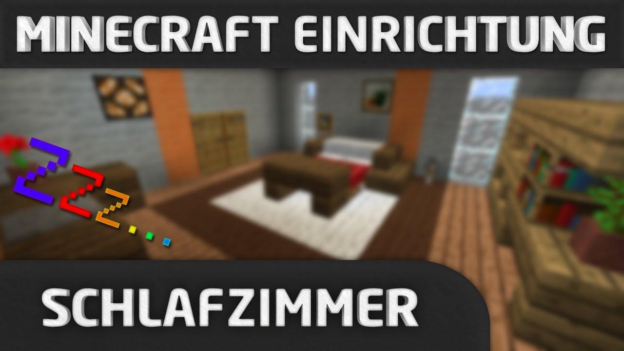 Minecraft Einrichtung: Schlafzimmer - YouTube