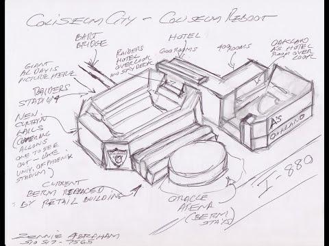 Oakland Coliseum City Raiders, A's Stadium Artist Concept Drawing