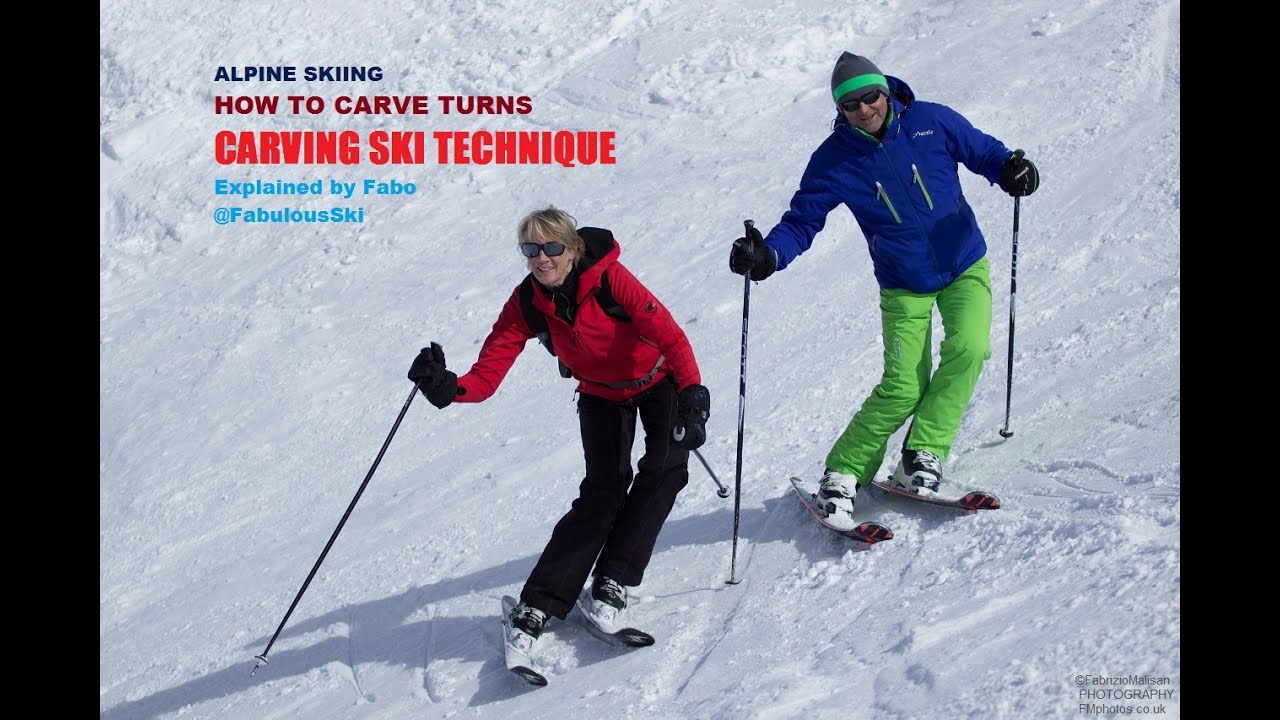 Carving ski lesson part how to initiate a turn in