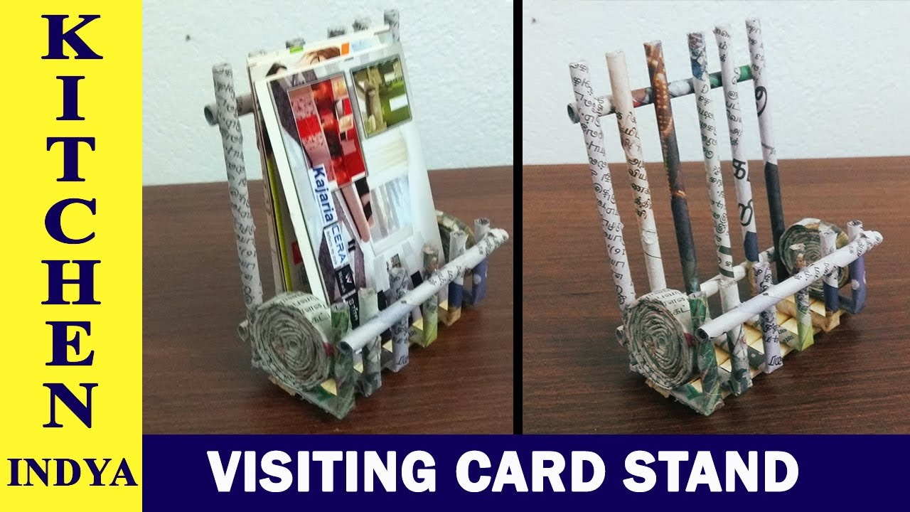 Visiting card stand using news paper | business card stand | News paper stand ideas | card stand