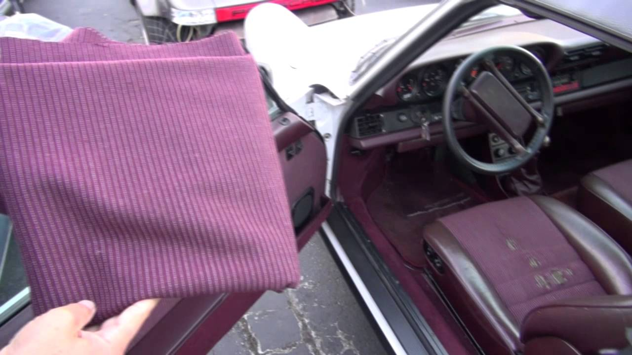 Porsche 911 Cloth Seat Insert Replacement by Cooks Upholstery Redwood City