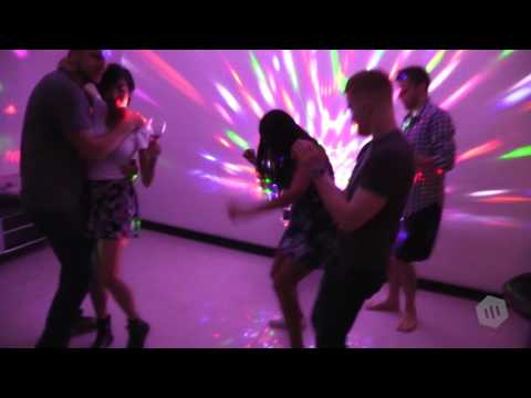LED Disco Ball by NuLights - RGB LED Party Lights w/ DMX 512 Capabilities