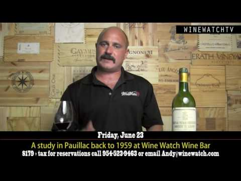 A study in Pauillac back to 1959 at Wine Watch Wine Bar - click image for video