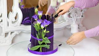 ТРЕНД УКРАШЕНИЕ ТОРТА 2021 ТОРТ ОРИГАМИ Как украсить торт при помощи бумаги и шоколада ВАУ ТОРТ