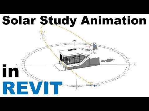 Sun Settings and Solar Study Animation in Revit Tutorial