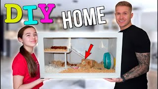 WE BUILT MILLIE A NEW HAMSTER CAGE! *WE GOT SO MUCH HATE! 😢