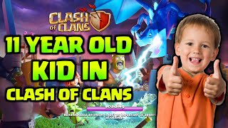 11 YEAR OLD KID PLAYS CLASH OF CLANS