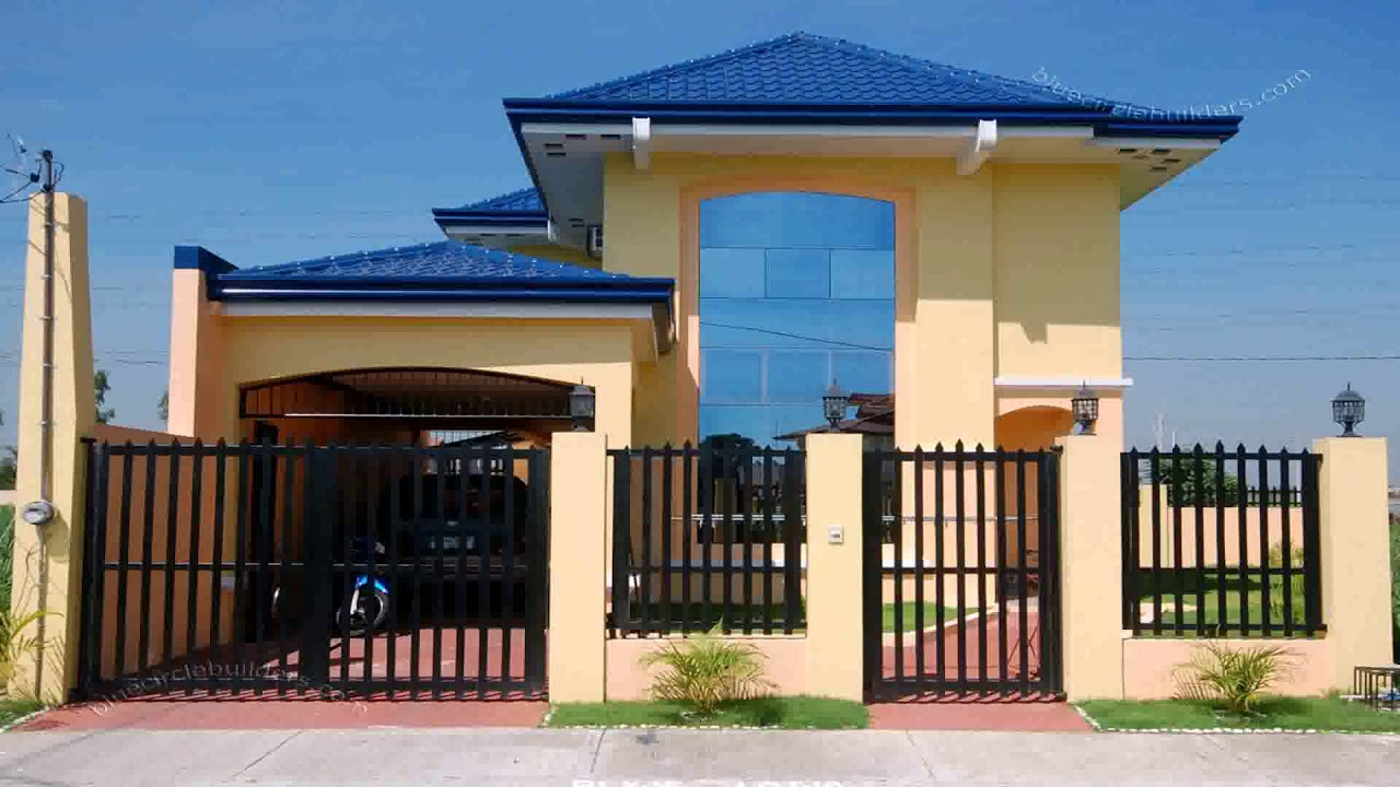 Modern house gate and fence designs philippines