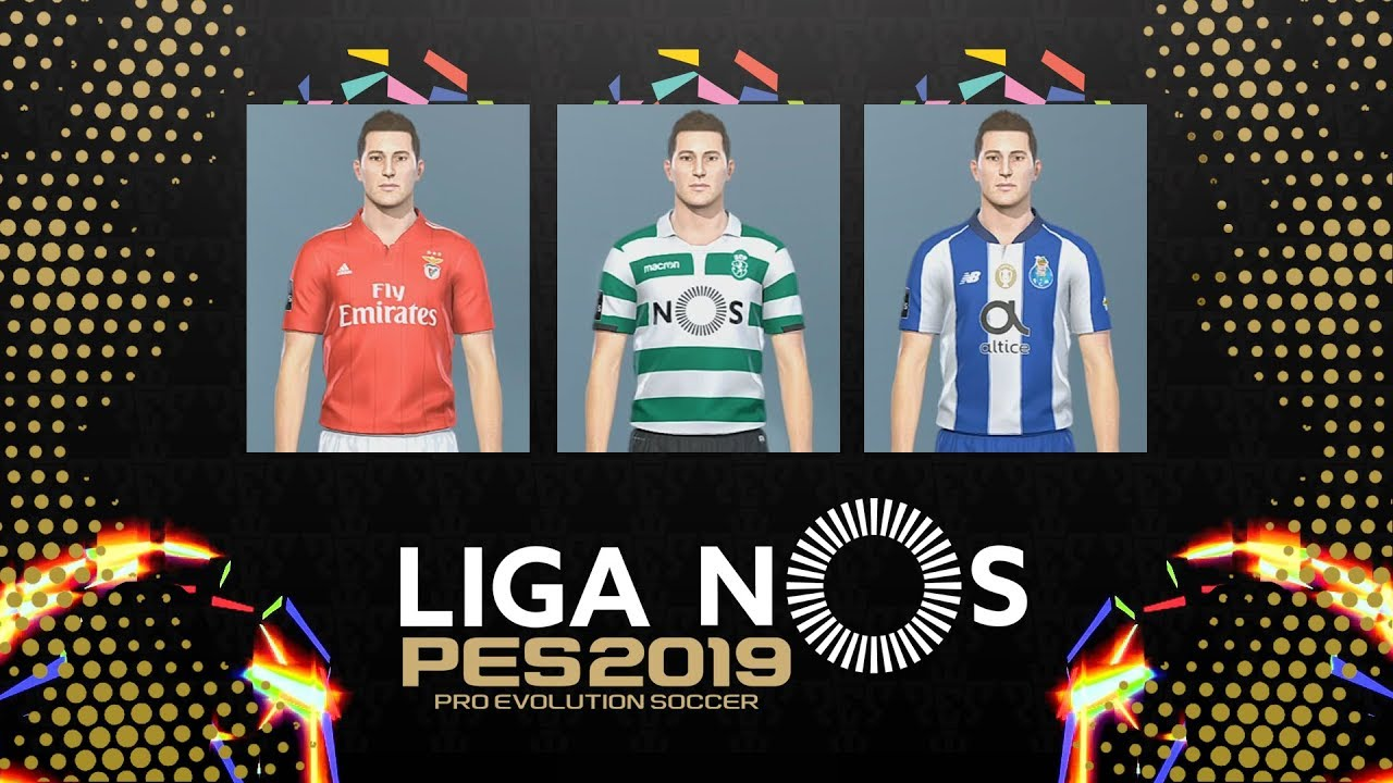 KITS DO NOVO PES 🏆 LIGA NOS | PRO EVOLUTION SOCCER 2019