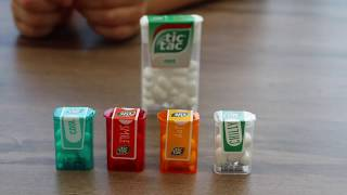 Giant Tic Tac pack - mini taste test sample and unboxing
