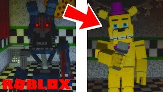 Finding All of The Secret Badge Animatronics in Roblox The Beginning of Fazbear Ent The RP