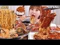 ASMR Mukbang|해물을 듬뿍 넣은 진라면과 편의점 도시락에 실비김치 먹방!