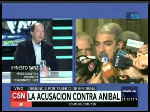 C5N - Minuto Uno: La acusacion contra Anibal y la palabra de Ernesto Sanz