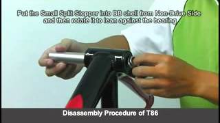 tool set for assembly disassembly of press fit bb for bike t86