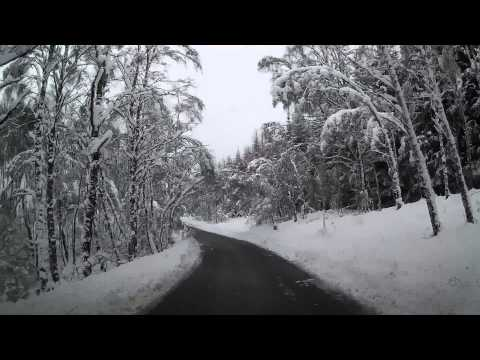 Beautiful Winter Drive Through The Scottish Highlands Of Scotland