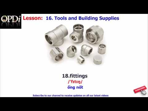 Oxford Dictionary - 16. Tools And Building Supplies - Learn English Vocabulary With Picture