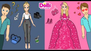 PAPER DOLLS DRESS UP NEW DRESSES \u0026 CLOTHES DOLLHOUSE FROM PAPER DIY HANDMADE